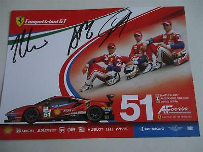 Carte Card AF Corse FERRARI  #51 signed all drivers 24 h Le Mans 2018 LM