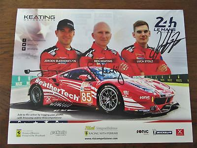 Carte Card FERRARI 488 KEATING #85 signed all drivers 24 h Le Mans 2018 LM
