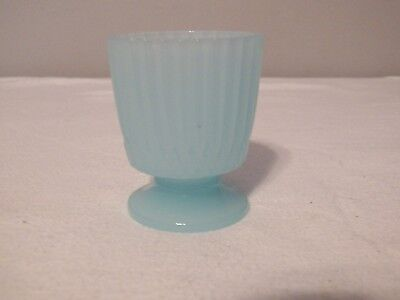 Pastel Blue Glass Voltive Candle Holder...Martha Stewart Collection