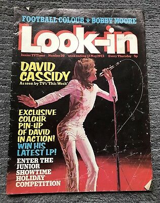 LOOK-IN MAGAZINE, JUNIOR TV TIMES - No 20, 12th MAY 1973 - DAVID CASSIDY