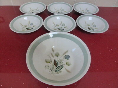 Woods Ware Clovelly,6 Dishes+1 Fruit Bowl