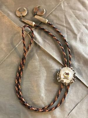 Shriner Mason Bolo Tie All Natural Material Vintage Authentic