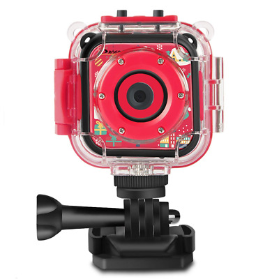(Christmas Edtion) Kids Camera Underwater Camera Camcorder Boys Girls 4X Zoom
