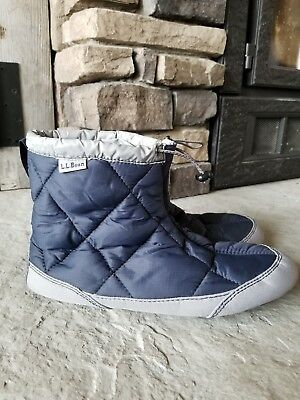 L.L. BEAN SLIPPERS Down Packaway Quilted Unisex