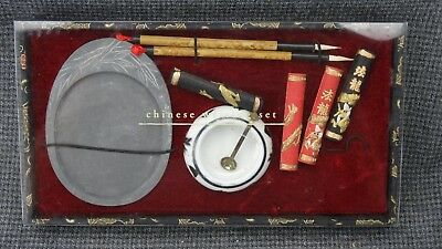 (B16) Chinese Writing Set Calligraphy Ink Stone Water Painting