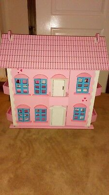 Kids Wooden Dolls House With Extras