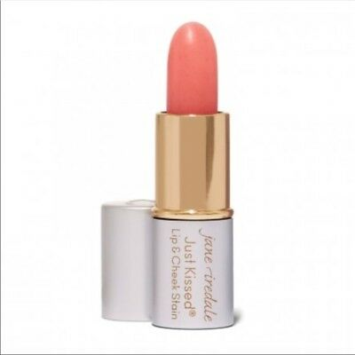 Jane Iredale JUST KISSED lip & cheek stain FOREVER PINK travel size sample NEW