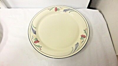 "Lenox Chinastone USA 10 3/4"" Serving Plate-Poppies on Blue Marked"