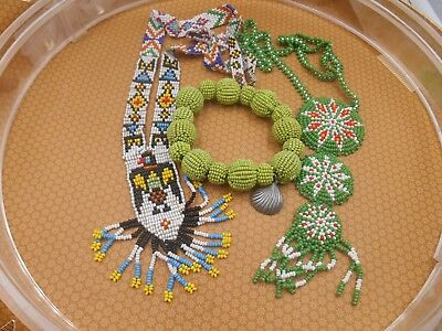 MIXED LOT beads and jewelry from large collection # 3 native seed beads