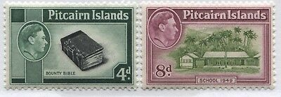 Pitcairn Islands KGVI 1940 4d and 8d unmounted mint NH