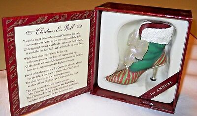 Just the Right Shoe Christmas Eve Ball Boot 1st edition