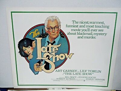 The Late Show 1977 Original Half-Sheet Movie Poster Tomlin & Carney   Amsel Art