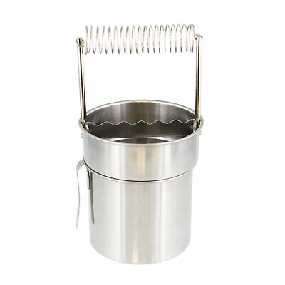 US Art Supply Deluxe Brush Cleaner with Wash Tank Stainless Steel Spiral Holder