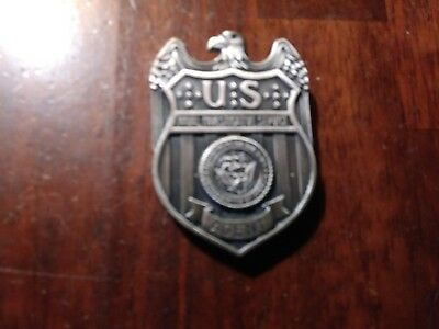 """Obsolete/Collectable US Navy Silver NIS """"Agent"""" Badge"""