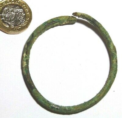 Late Bronze Age Bronze Bracelet Open Ended Arm Ring Torc Luristan