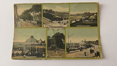Postcard Morecambe Six Views. Posted 1910.