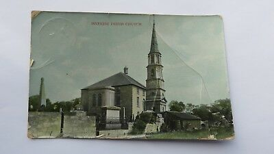 Postcard Inveresk Parish Church, East Lothian. Posted 1919. Scotland.