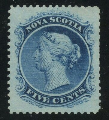 Nova Scotia 1860 QV 5c blue JUMBO #10 mint no gum