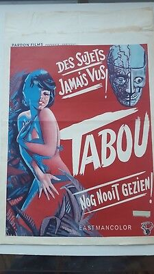 Taboo Belgian Movie Poster Jess Franco Sexploitation