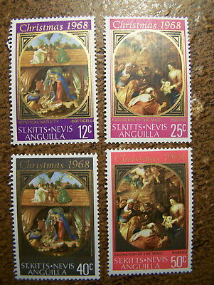 St. Kitts Nevis Anguilla 4 MNH Stamps #191-194 - Christmas 1968 - Free Shipping