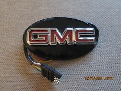"""resse gmc truck trailer hitch cover led lighted new black red chrome 1 1/4"""" 2"""""""