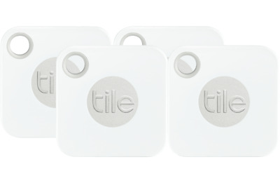 4 Pack Tile Mate Bluetooth Tracker with Replaceable Battery (TI-EC-13004)