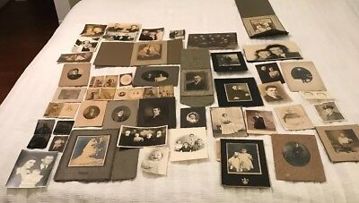 Large Lot of Old Photos-including 3 Tintypes-1870's-1950's. NY, MA, Dublin, Eng.