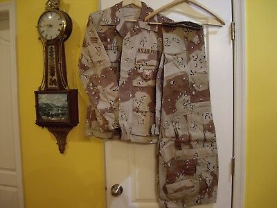 Desert Storm 6 Color Chocolate Chip BDU Shirt and Pants, Both Small Regular