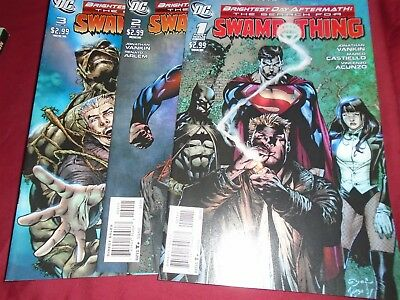 BRIGHTEST DAY - SEARCH FOR SWAMP THING #1-3 Complete Set DC Comics 2011 NM