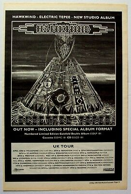 HAWKWIND 1992 Poster Ad ELECTRIC TEPEE