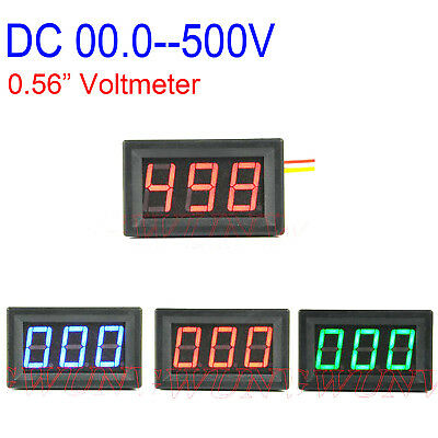 "0.56"" DC voltmeter 0-500V digital LED VOLT Panel Meter Voltage Tester Monitor"