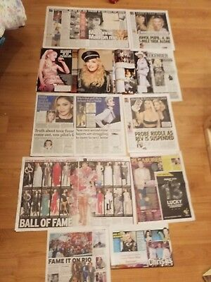 Madonna Mad on Me Madonna secret Pain newspaper cuttings clippings Large Lot