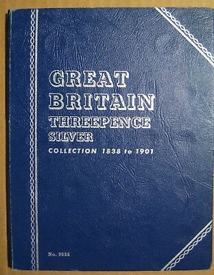 Lot of 6 Great Britain Silver Threepence in a Book Take a L@@K
