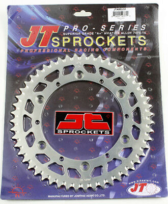 1987-1989 Yamaha YZ250 Dirt Bike JT Sprockets 51 Tooth Aluminum Rear Sprocket