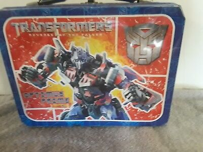 Transformers/Optimus Prime- Bumblebee lunch box. Vintage RARE Collectible