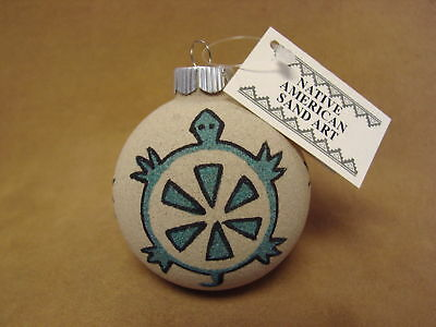 Native American Sandpainting Christmas Ornament! Handmade CO449