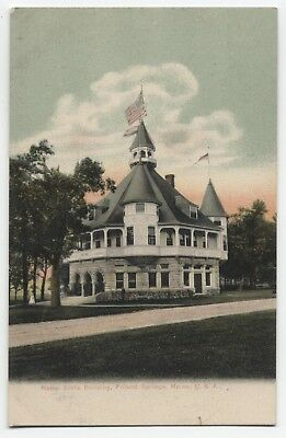 ME ~ Maine State Building POLAND SPRINGS Maine c1905 Androscoggin Co Postcard