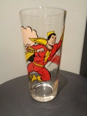 Vintage 1978 DC Comics Shazam Pepsi Collectors Drinking Glass