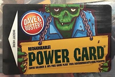 Dave and Busters Power Card! - 320 Chips $65 Value