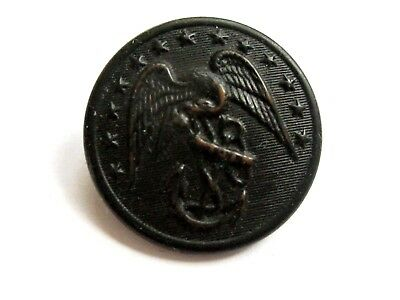 Vintage US Marine Eagle Button Scovill Mfg Co Waterbury Anchor
