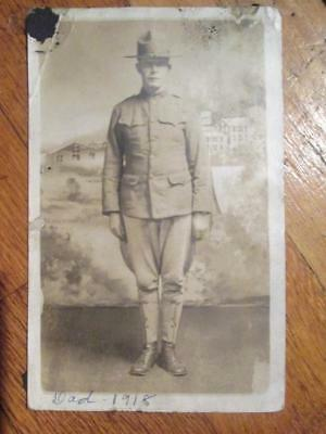 """Antique WW1-WWI """"Doughboy-Soldier"""" Real Photo Postcard"""