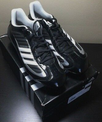 BRAND NEW ADIDAS LACROSSE SPIKES UNIVERSITY IV D LOW Size 11.5 football NWB BLK