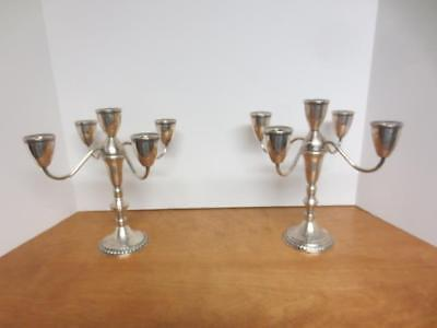 2 Weighted Sterling Silver DUCHIN CREATIONS Candelabras - 5 light - convertible