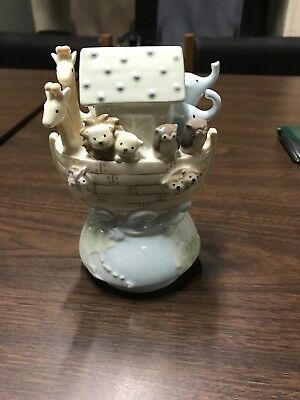 Grasslands Road Musical Rotating Figurine Noah's Ark Baby Boy or Girl Music Box