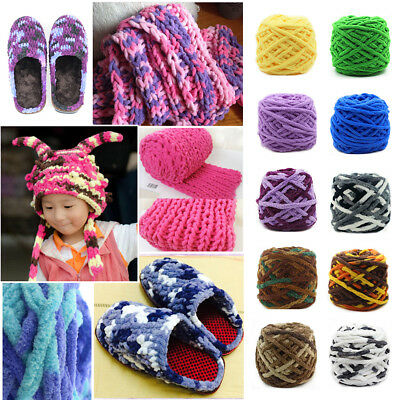 Super Soft 23 Colors Woolen Cotton Yarn Chunky Weave Knit Gloves Sweater DIY 48