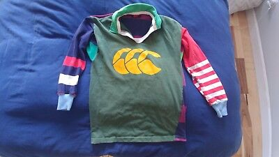 VINTAGE CANTERBURY of NEW ZEALAND STRIPED RUGBY SHIRT