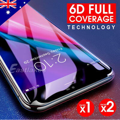 2x 6D Full Cover Soft Tempered Glass Screen Protector Apple iPhone 8 7 6s Plus