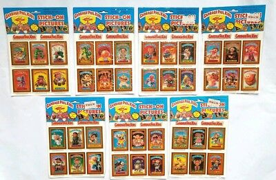 Vintage New 1986 Garbage Pail Kids Stick-On Stickers Set #1 - Topps Cards Gpk