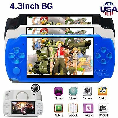 8GB Portable 4.3'' PSP Handheld Game Console 100 Free Games Built-In Camera USA