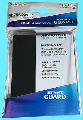 100 ULTIMATE GUARD UNDERCOVER JAPANESE Size CARD SLEEVES Double Perfect Fit